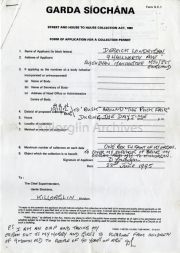Application for a Colection Permit,