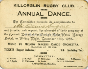 Dance Held At The Caragh Lake Hotel On 16th December 1932, Music By The Melody Makers Dance Orchestra Sport Ref: S038