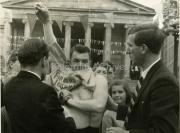 1964 Fr Fingalton presenting jersey to Gene Mangan, Joe Christle.