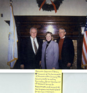 Bob Cahillane with Shannon O'Brien, Treasurer of the Commonwealth of Massachusetts and Tom Kelley, former Commissioner of Veterans Services for Massachusetts.