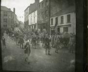 Pipe Band marching through Main Street, Killorglin.