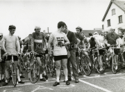 John Mangan at the start of a ras,