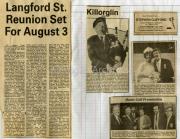 Langford Street Reunion; Dooks Golf Presentation; Glencar Piper; Wedding Bells