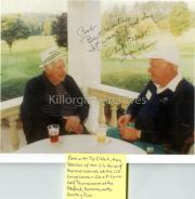 Bob Cahillane with Tip O'Neill, then speaker of the US house of Representatives, at the US Congressman Silvio O. Conte Golf Tournament.