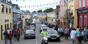 Crowds Arriving Over The County Bridge For Puck Fair