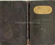 1855 James McCrohan, General Merchant, Killorglin, Record Book Cover