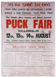 Poster Showing Puck Fair On The Unusual Dates of 12th 13th and 14th August