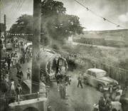 Caravans on Iveragh Road - Train In Background
