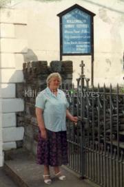 Hannah O'Connor outside the Church of Ireland, Killorglin.