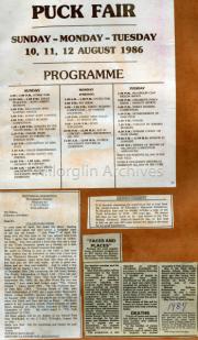 Puck Fair Programme 1986