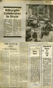 Killorglin Celebrates In Style, The Manor Inn A Short History, International Flavour To Puck 90, Money Galore