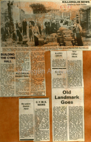 Building The CYMS Hall, Killorglin Basketball, Re-Union Dance Held, CYMS News Old Landmark Goes, Radio Show, New Office Block