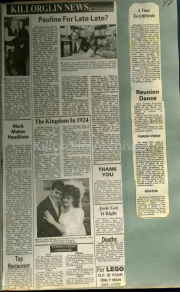 Pauline For Late Late?, Mark Makes Headlines, To Restaurant, The Kingdom In 1924, A Time To Celebrate, Reunion Dance