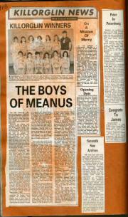 Killorglin Girls Basketball Winners, The Boys Of Meanus, On A Mission Of Mercy, Opening Date, Seventh Son Arrives, Peter In Petersburg,