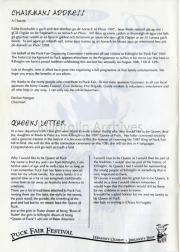 Chairmans Address & Queens Letter
