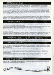 Gathering Day, Fair Day & Scattering Day Information