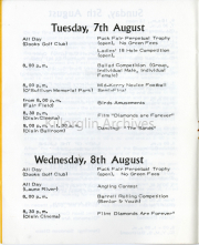 Tuesday 7th & Wednesday 8th August List Of Events