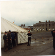 1980 Ballymullen Barracks Tralee, Parade for Minister Sgt Tony McMahon.