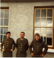 Tommy Woods, Sgt Paddy Hannon, Dominic Crowley. Faces of Killorglin Ref: F186