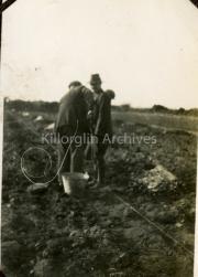 Charlo Foley Banshagh, laying out the potato drills.
