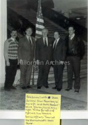 Bob Cahillane with State Senator Stan Rosenberg and State Representative Stanley Kulick and two veteran Service Officers. Photo taken at Massachusetts State House.