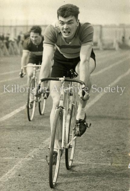Gene Mangan racing at the Iveragh Grounds, Crumlin,1967