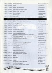 Festival Timetable Cont...