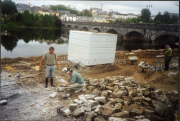 Building the,,King Puck Monument in Killorglin.