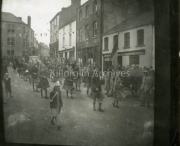Pipe Band marching through Main Street, Killorglin.