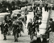 1954 Laune Pipers Band Funeral of Jerry Myers Secretary of GAA in Kerry in Tralee