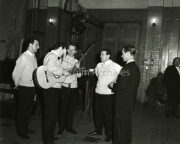 1964 Mike Fein with The Clancy Brothers and Tommy Makennn Backstage