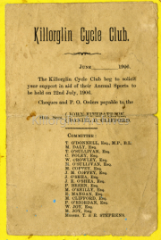 Killorglin Cycle Club 1906