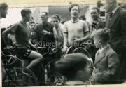 1951 First Modern cycle race in Killorglin, Dan Ahern, John O'Sullivan, Denis Kidney, Jim O'Sullivan, Gene Mangan, Tom Foley, Patrick Houlihan, Tomas Holihan.
