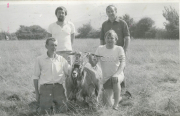 ?, ?, Pa Houlihan & Terence Houlihan with King Puck 1984