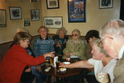 Trease Keane,Hannah Houlihan, Mary Clifford, Mrs Bridie Keane, Bridie Houlihan, Honroue O'Connor and christy foley. In Falvey Bar.