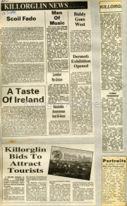 Scoil Fado, A Taste Of Ireland, Killorglin Bids To Attract Tourists, Men Of Music, London Reunion, Biddy Goes West, Dermots Exhibition Opened, Town Twinning