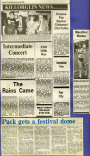 Intermediate Concert, The Rains Came, FBD Milk Ras, Drama For Senior Citizens, Marathon Maiden, Puck Gets A Festival Dome