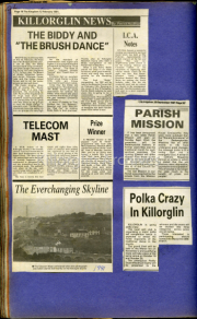 The Biddy & The Brush Dance, Telecom Mast, The Everchanging Skyline, Parish Mission, Polka Crazy In Killorglin