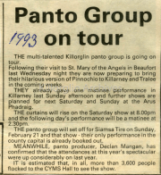 Newspaper Article Relating To 1993 Panto Group