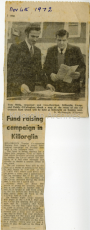 Tom Melia & Paddy Callaghan Fund Raising For Killorglin Tourism Co-op