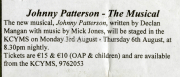 Johnny Patterson The Musical