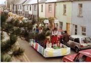 Puck Fair parade passes thrrough Langford Street. 1980s.