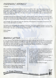 Chairmans Address & Queens Letter