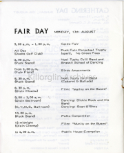 Monday 13th August Fair Day List Of Events